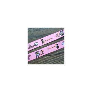 13動物のチロルテープ 幅16mm ピンク/ブラウン(10ヤード)|yu-beads-parts