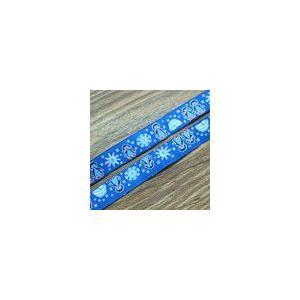 14動物のチロルテープ 幅16mm ダークブルー(10ヤード)|yu-beads-parts
