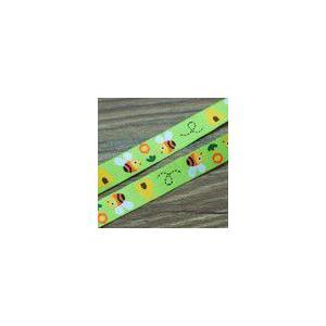 18動物のチロルテープ 幅16mm グリーン/イエロー(10ヤード)|yu-beads-parts
