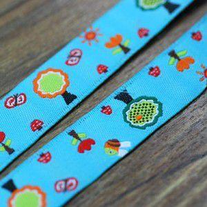 19動物のチロルテープ 幅16mm ブルー(10ヤード) yu-beads-parts 02