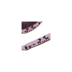 2動物のチロルテープ 幅15mm  ピンク(5ヤード)|yu-beads-parts