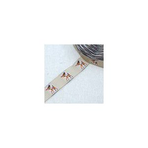 4動物のチロルテープ 幅17mm ライトブラウン(5ヤード)|yu-beads-parts