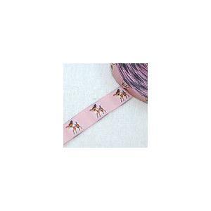 4動物のチロルテープ 幅17mm ピンク(5ヤード)|yu-beads-parts