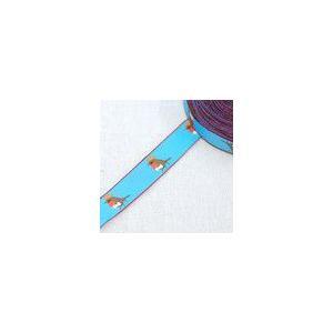 6動物のチロルテープ 幅16mm ブルー(5ヤード)|yu-beads-parts