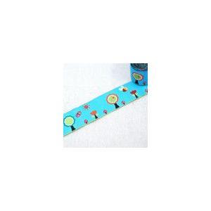 8動物のチロルテープ 幅30mm ブルー(5ヤード)|yu-beads-parts