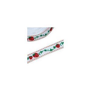 1果物のチロルテープ 幅17mm ホワイト(5ヤード) yu-beads-parts