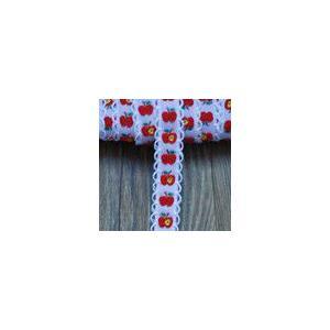 4果物のチロルテープ 幅15mm ピンク/レッド(5ヤード) yu-beads-parts