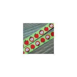 7果物のチロルテープ 幅16mm グリーン/レッド(10ヤード)|yu-beads-parts