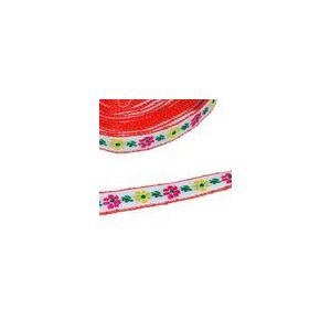 10お花のチロルテープ 幅11mm レッド(5ヤード)|yu-beads-parts