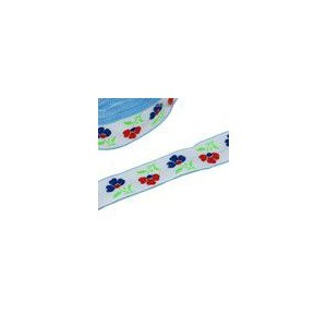 2お花のチロルテープ 幅26mm  ホワイト(5ヤード) yu-beads-parts