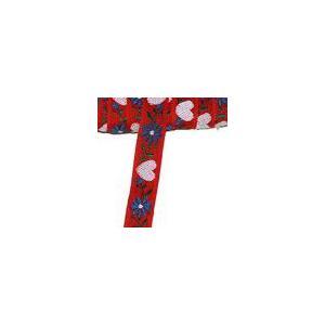 7お花のチロルテープ 幅15mm  レッド(5ヤード)|yu-beads-parts