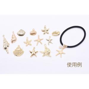 チャームパーツ 海洋生物シリーズ ヒトデ 26×22mm ゴールド【10ヶ】 yu-beads-parts 05