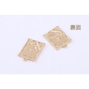 チタンピアス金具 透かし蝶 8×10mm ゴールド【4ヶ】 yu-beads-parts 03