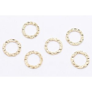 メタルパーツ 模様入りリング 18mm ゴールド【10ヶ】|yu-beads-parts|02