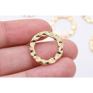 メタルパーツ 模様入りリング 18mm ゴールド【10ヶ】|yu-beads-parts|03