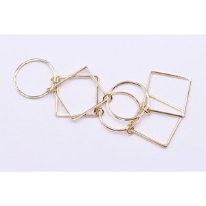 チェーンパーツ 丸・四角 3×19cm ゴールド【5ヶ】 yu-beads-parts 03