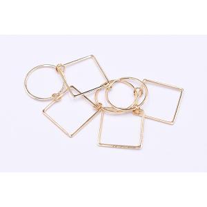 チェーンパーツ 丸・四角 3×19cm ゴールド【5ヶ】 yu-beads-parts 04