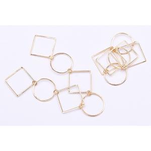 チェーンパーツ 丸・四角 3×19cm ゴールド【5ヶ】 yu-beads-parts 05