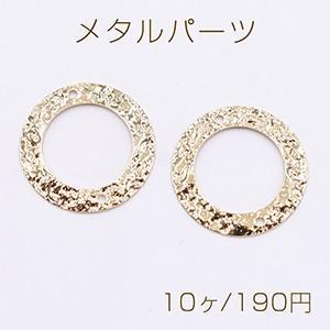 メタルパーツ プレート 波型丸フレーム 2穴 21mm ゴールド【10ヶ】|yu-beads-parts