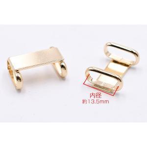 帯留め 金具 台座パーツ 長方形 8×20mm ゴールド【1ヶ】|yu-beads-parts|03
