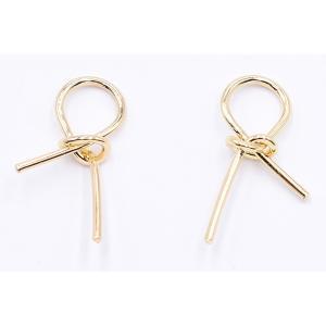 チャームパーツ リボン 14×26mm ゴールド【10ヶ】|yu-beads-parts|02