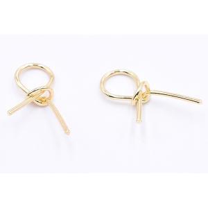 チャームパーツ リボン 14×26mm ゴールド【10ヶ】|yu-beads-parts|03