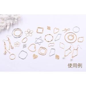 チャームパーツ  丸フレーム ツイスト 20×21mm【10ヶ】 yu-beads-parts 05