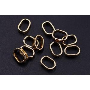 チェーンパーツ オーバル 7×10mm ゴールド【20ヶ】|yu-beads-parts|03