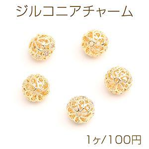 ピアス金具 半円 カン付 8×11mm ゴールド【4ヶ】 yu-beads-parts