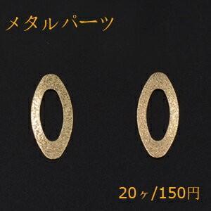 メタルパーツ プレート スクラブ オーバルフレーム 穴なし 14×31mm ゴールド【20ヶ】|yu-beads-parts