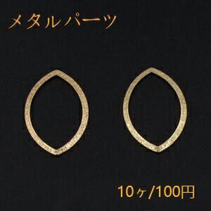 メタルパーツ プレート スクラブ ホースアイフレーム 穴なし 22×34mm ゴールド【10ヶ】|yu-beads-parts