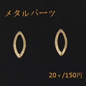 メタルパーツ プレート スクラブ ホースアイフレーム 穴なし 9×21mm ゴールド【20ヶ】|yu-beads-parts