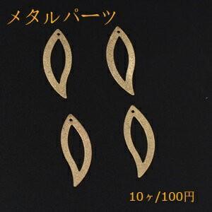 メタルパーツ プレート スクラブ 葉フレーム 1穴 11×34mm ゴールド【10ヶ】|yu-beads-parts