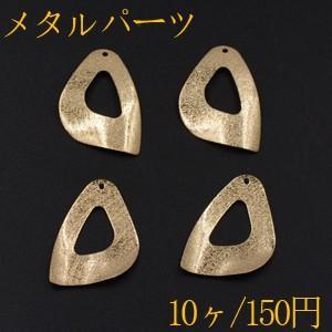 メタルパーツ プレート 抜き変形三角 1穴 22×32mm ゴールド【10ヶ】|yu-beads-parts