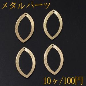 メタルパーツ プレート スクラブ ホースアイフレーム 1穴 26×48mm ゴールド【10ヶ】|yu-beads-parts