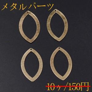 メタルパーツ プレート ホースアイフレーム 1穴 27×48mm ゴールド【10ヶ】|yu-beads-parts