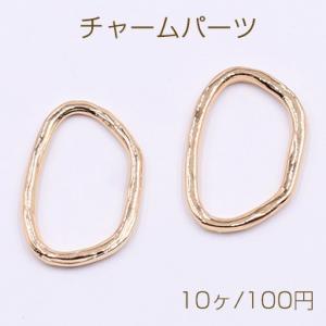 メタルパーツ プレート 抜きオーバル 穴なし 24×14mm ゴールド【10ヶ】|yu-beads-parts