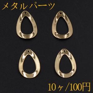 メタルパーツ プレート 雫フレーム 1穴 16×26mm ゴールド【10ヶ】|yu-beads-parts