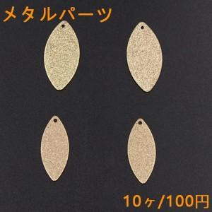 メタルパーツ プレート スクラブ オーバル 1穴 ゴールド【10ヶ】|yu-beads-parts