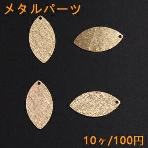 メタルパーツ プレート リーフ 1穴 13×25mm ゴールド【10ヶ】|yu-beads-parts