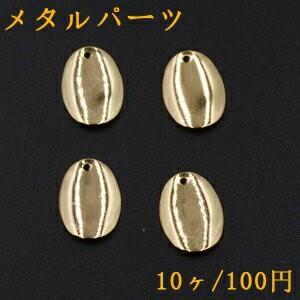 メタルパーツ プレート オーバル 1穴 14×19mm ゴールド【10ヶ】|yu-beads-parts