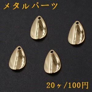 メタルパーツ プレート 雫 1穴 10×16mm ゴールド【20ヶ】|yu-beads-parts