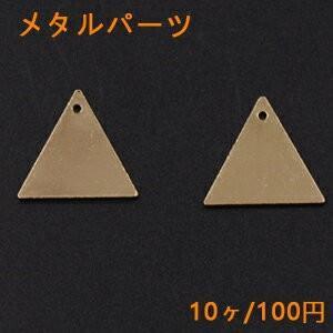 メタルパーツ プレート 三角 1穴 19×20mm ゴールド【10ヶ】|yu-beads-parts