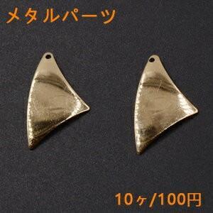 メタルパーツ プレート 変形三角 1穴 16×27mm ゴールド【10ヶ】|yu-beads-parts