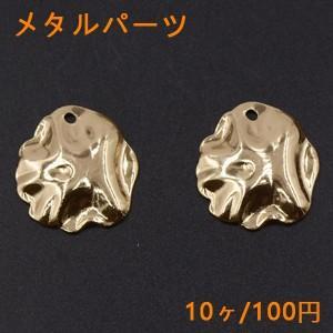 メタルパーツ プレート 不規則 1穴 24×27mm ゴールド【10ヶ】|yu-beads-parts