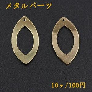 メタルパーツ プレート ホースアイフレーム 1穴 16×30mm ゴールド【10ヶ】|yu-beads-parts