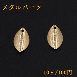 メタルパーツ プレート スクラブ リーフ 1穴 10×18mm ゴールド【10ヶ】|yu-beads-parts
