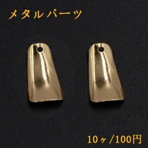 メタルパーツ プレート 台形 1穴 9×16mm ゴールド【10ヶ】|yu-beads-parts