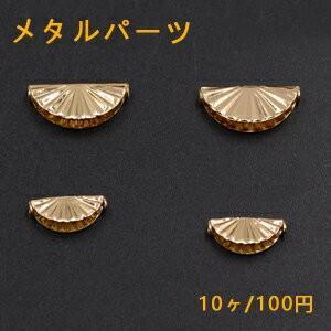 メタルパーツ 貝殻 横穴 ゴールド【10ヶ】|yu-beads-parts