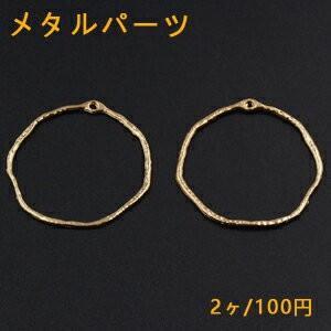 メタルパーツ 変形丸フレーム 1カン 41×42mm ゴールド【2ヶ】|yu-beads-parts